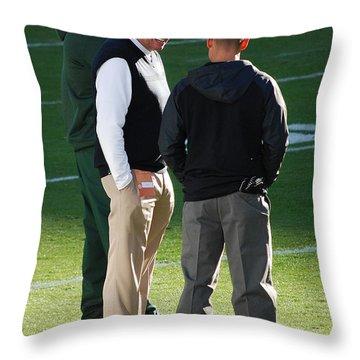 Happy Rex Throw Pillow