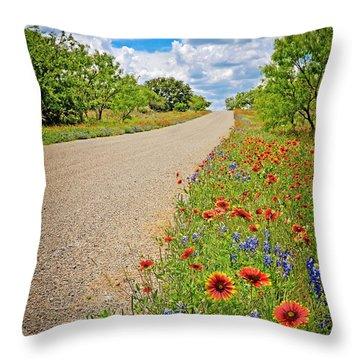Happy Road Throw Pillow