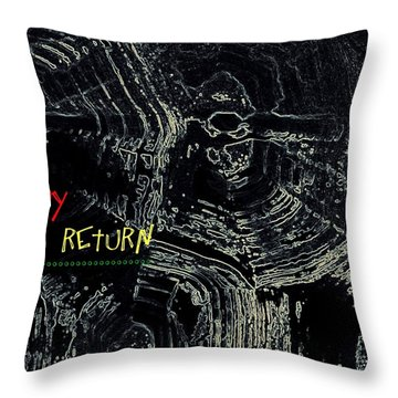 Throw Pillow featuring the digital art Happy Solar Return 470 by Cleaster Cotton