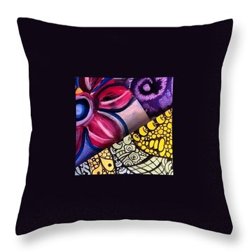 Happy  Summer Day  Throw Pillow
