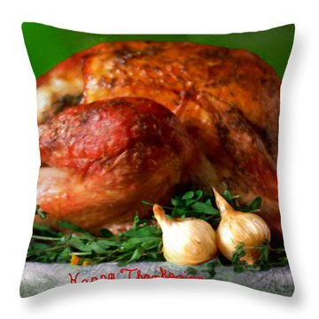 Happy Thanksgiving Throw Pillow by Bruce Nutting