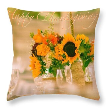 "Happy Thanksgiving!!! ""for Each New Throw Pillow"