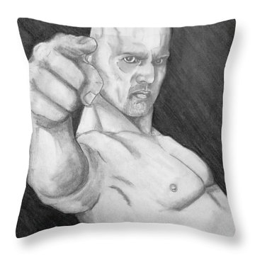 Happy- The Unholy One- Sons Of Anarchy Throw Pillow by Justin Moore