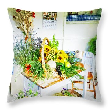Happy Thoughts Throw Pillow by Steve Taylor