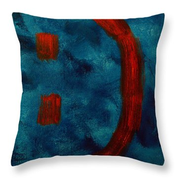 Happy To Be Here  Throw Pillow by Shawn Marlow