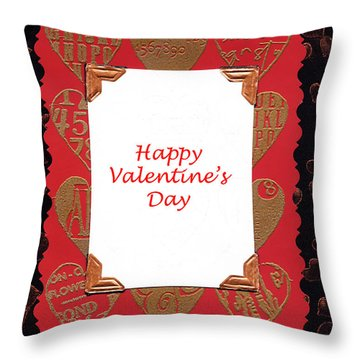 Throw Pillow featuring the photograph Happy Valentines Day Card by Vizual Studio