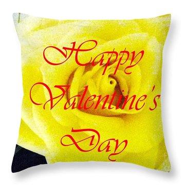 Happy Valentine's Day Throw Pillow by Barbie Corbett-Newmin