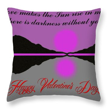 Happy Valentine's Day Throw Pillow by George Pedro
