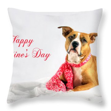 Fifty Shades Of Pink - Happy Valentine's Day Throw Pillow