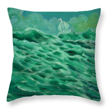 Happy Wanderer 6 Throw Pillow