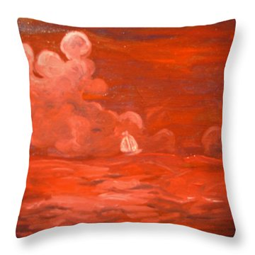 Happy Wanderer 9 Throw Pillow