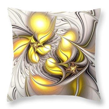 Happy Yellow Throw Pillow by Anastasiya Malakhova