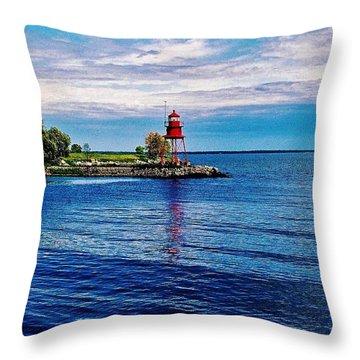 Throw Pillow featuring the photograph Harbor Light by Daniel Thompson
