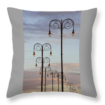 Harbor Lights Throw Pillow