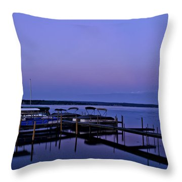 Harbor Night Throw Pillow