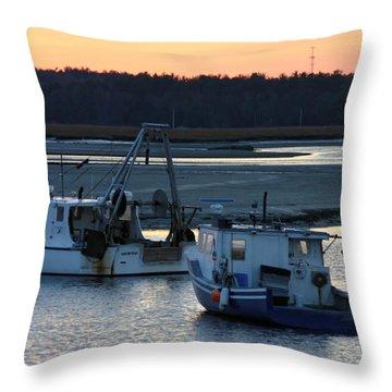 Harbor Nights Throw Pillow