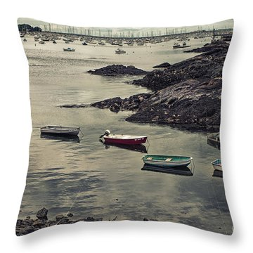 Harbor On A Cloudy Day Throw Pillow