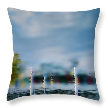 Harbor Reflections Throw Pillow