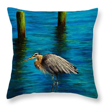 Harbor Sentry Throw Pillow by C Steele