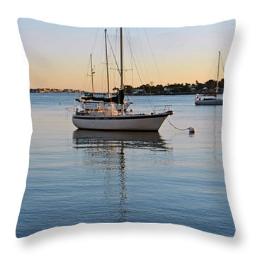 Harbor Sunrise Throw Pillow by Anthony Baatz