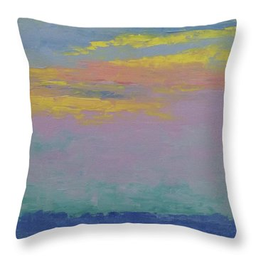 Harbor Sunset Throw Pillow by Gail Kent