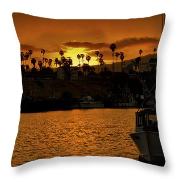 Throw Pillow featuring the photograph Harbor Sunset by Joseph Hollingsworth
