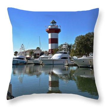Harbor Town Lighthouse Throw Pillow