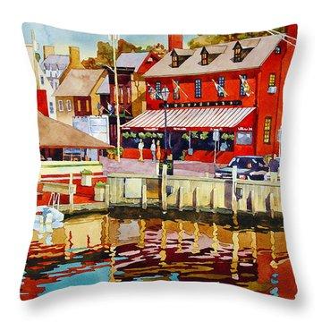Harborfront Tavern Throw Pillow