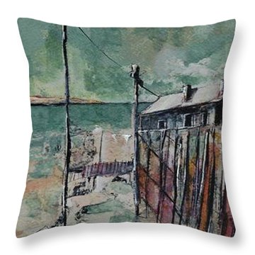 Harbormaster's Home Away From Home Throw Pillow