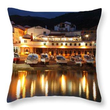 Harbour At Twilight Throw Pillow by Gaspar Avila