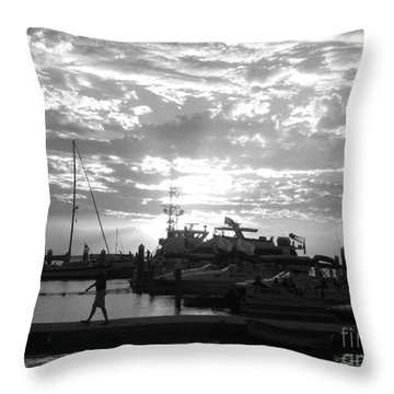 Harbour Clouds Throw Pillow by WaLdEmAr BoRrErO