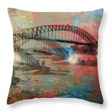 Throw Pillow featuring the photograph Harbour In Abstraction by Leanne Seymour