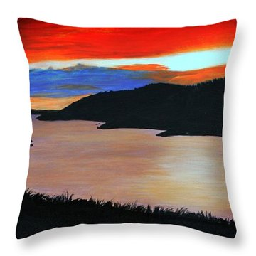 Harbour Sunset Throw Pillow by Barbara Griffin
