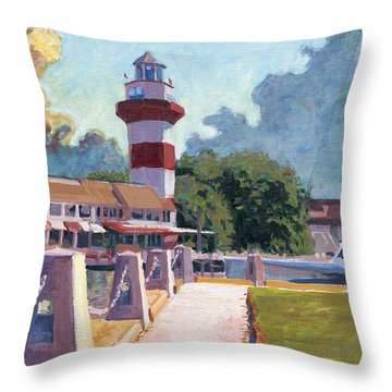 Harbour Town Light Throw Pillow by David Randall