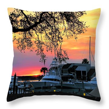 Harbour Town Sundown Throw Pillow