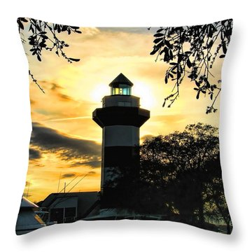 Harbour Town Lighthouse Beacon Throw Pillow