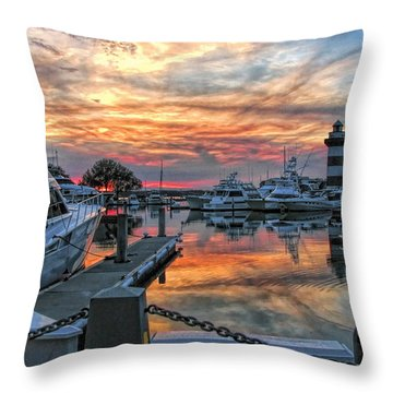 Harbour Town Yacht Basin Throw Pillow