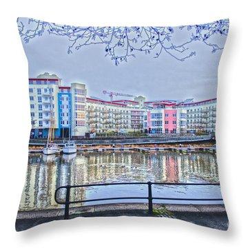 Harbourside Flats Throw Pillow