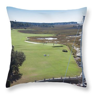 Harbourtown Golf Course 18th Hole Throw Pillow
