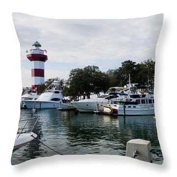 Harbourtown Harbor Throw Pillow