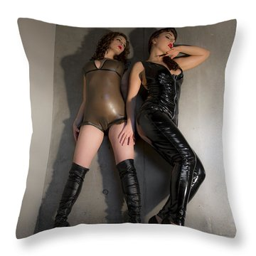 Hard And Soft Throw Pillow
