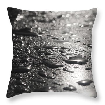 Throw Pillow featuring the photograph Hard And Soft by Miguel Winterpacht