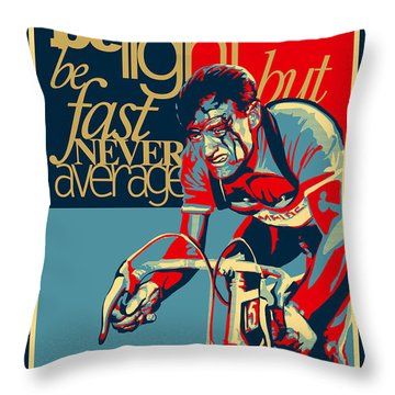 Hard As Nails Vintage Cycling Poster Throw Pillow