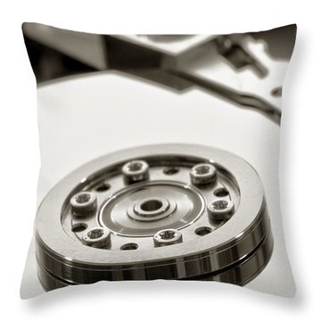 Hard Drive Throw Pillow by Olivier Le Queinec