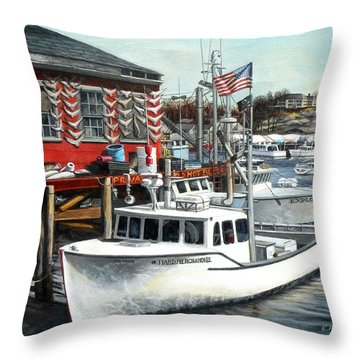 Hard Merchandise Rocky Neck Throw Pillow by Eileen Patten Oliver