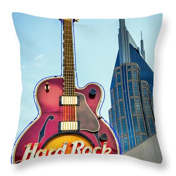 Hard Rock Cafe Nashville Throw Pillow
