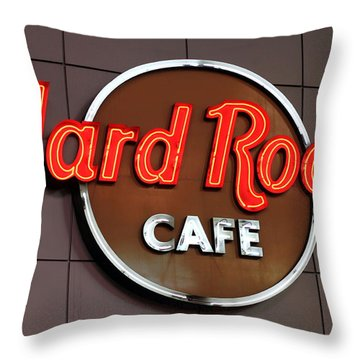 Hard Rock Cafe Sign Throw Pillow