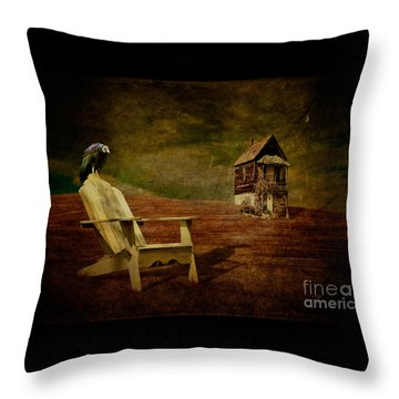 Hard Times Throw Pillow by Lois Bryan