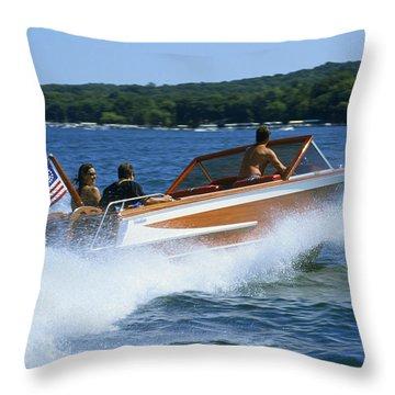 Hard Turn - Lake Geneva Wisconsin Throw Pillow