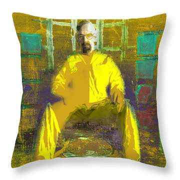 Throw Pillow featuring the digital art Hard Work by Brian Reaves